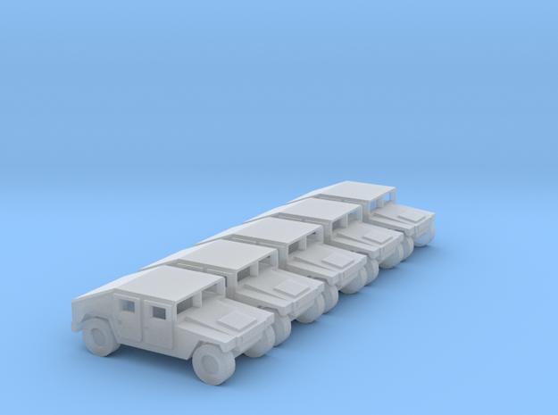 1:144 Humvee M1025 set of 5 in Smooth Fine Detail Plastic