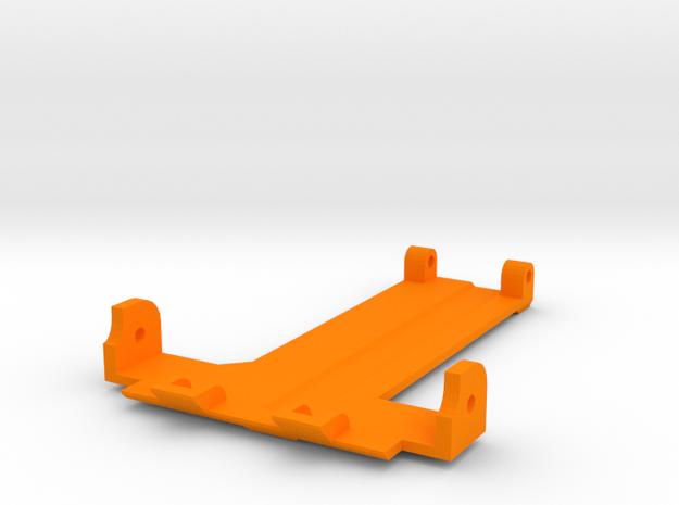 Shorty Thundershot Rear Skid Plate in Orange Processed Versatile Plastic