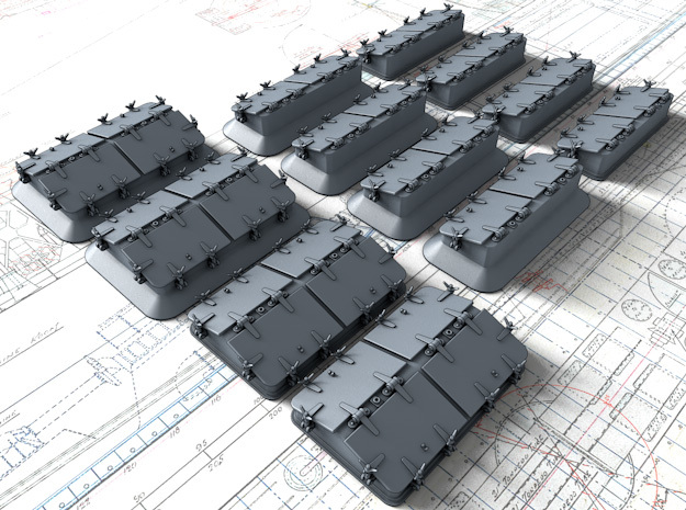 1/35 Royal Navy Deck Skylight Set in Smooth Fine Detail Plastic