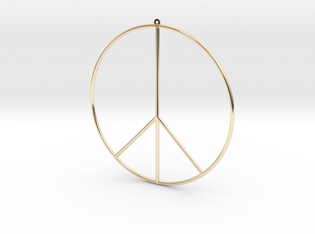 Gipsy Earring Peace in 14K Yellow Gold
