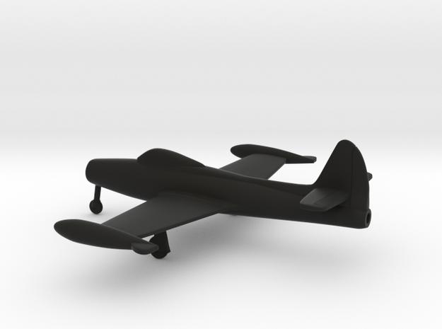 Republic F-84 Thunderjet in Black Natural Versatile Plastic: 1:160 - N