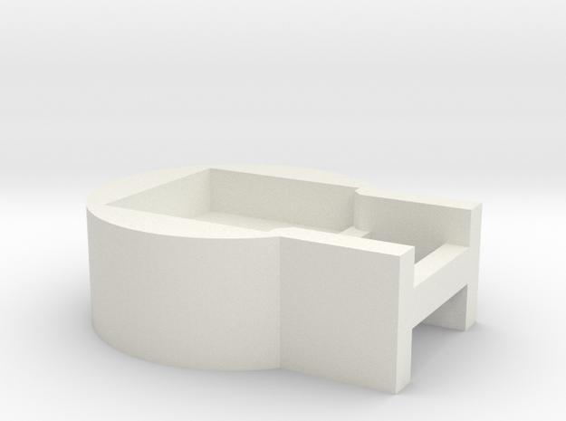 SK-CrystalPixelholder-SK6812 in White Natural Versatile Plastic