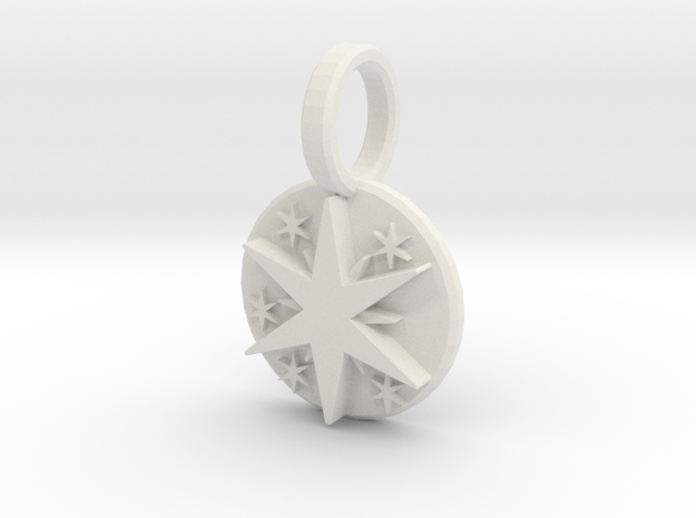 Spark Pendant 3d printed