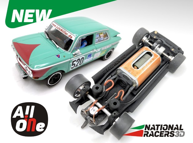 Chassis - Revell NSU TTS (Inline-AiO) in Black PA12