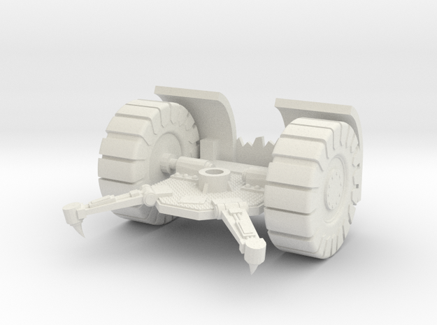 Space Orks Cannon Base Type 01 in White Natural Versatile Plastic