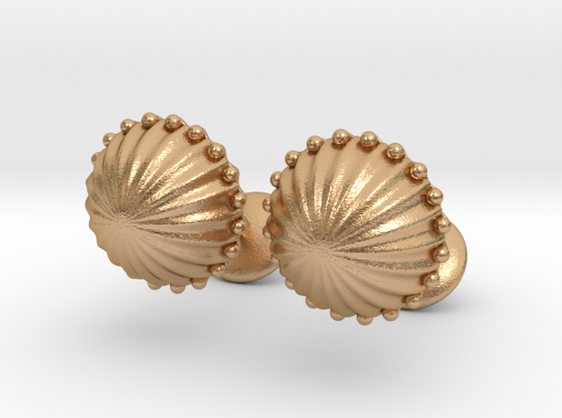 Tomb Cufflinks in Natural Bronze