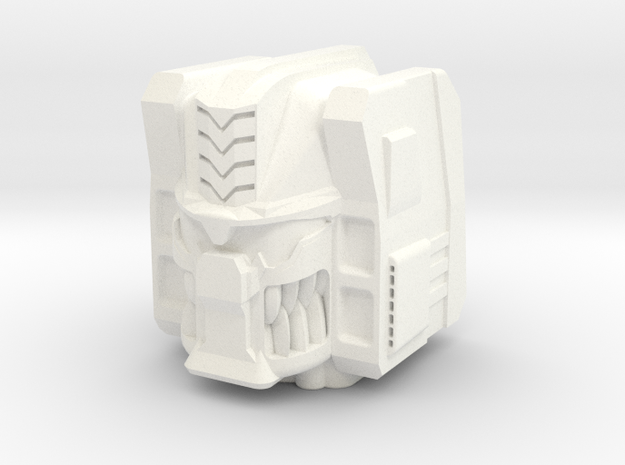 Dinobot Combiner Head in White Processed Versatile Plastic