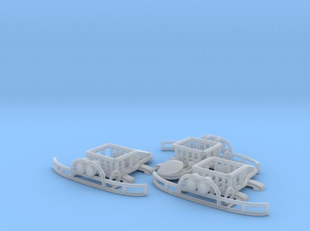 Set of 3 - Porsche Safari Kit  in Smooth Fine Detail Plastic