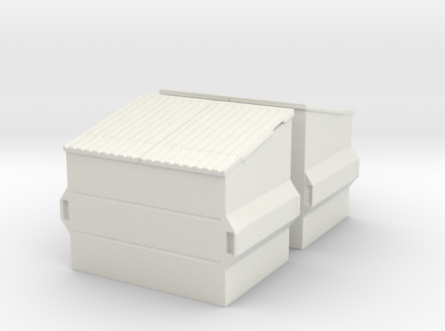 Dumpster (2 pieces) 1/43 in White Natural Versatile Plastic