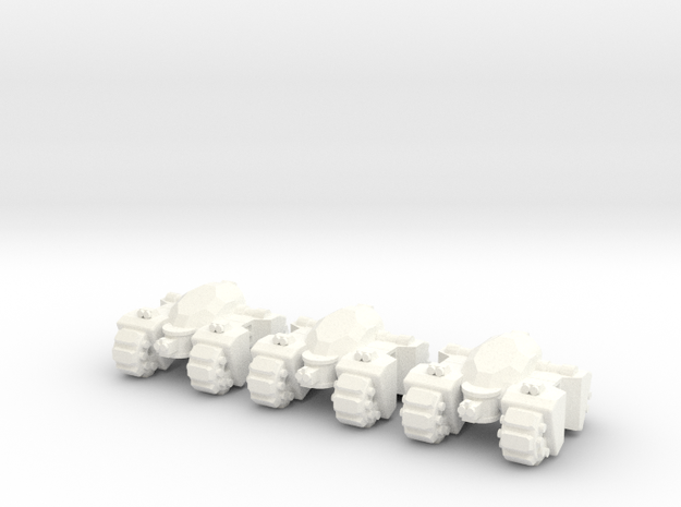 6mm - Quad Spine in White Processed Versatile Plastic