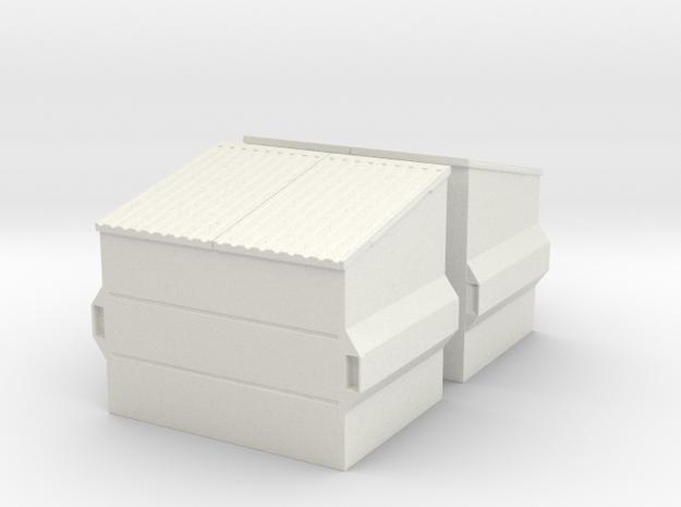 Dumpster (2 pieces) 1/24 in White Natural Versatile Plastic