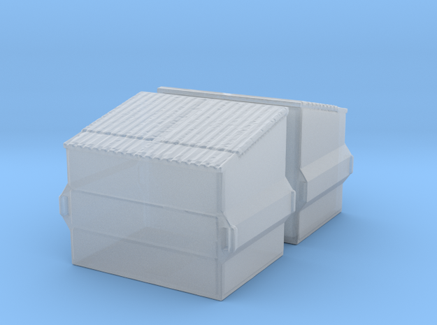 Dumpster (2 pieces) 1/200 in Smooth Fine Detail Plastic