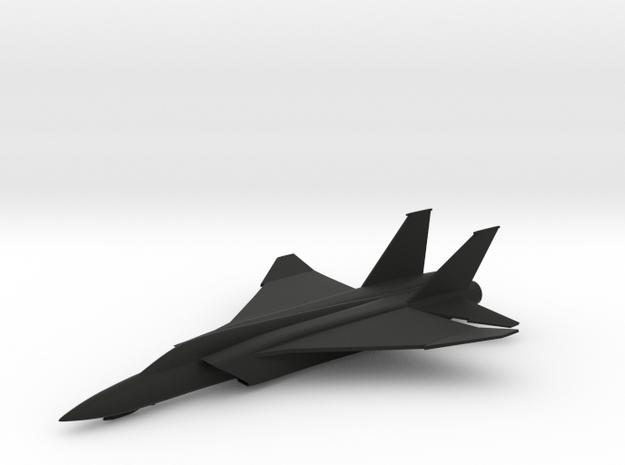 F-46A Interceptor in Black Natural Versatile Plastic: 1:200