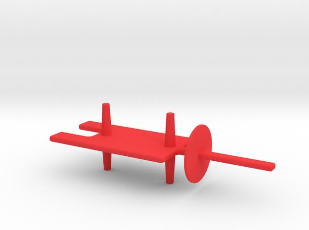 690-14611-01_REV_0, MECH, PLUG, RBF, SHT in Red Processed Versatile Plastic
