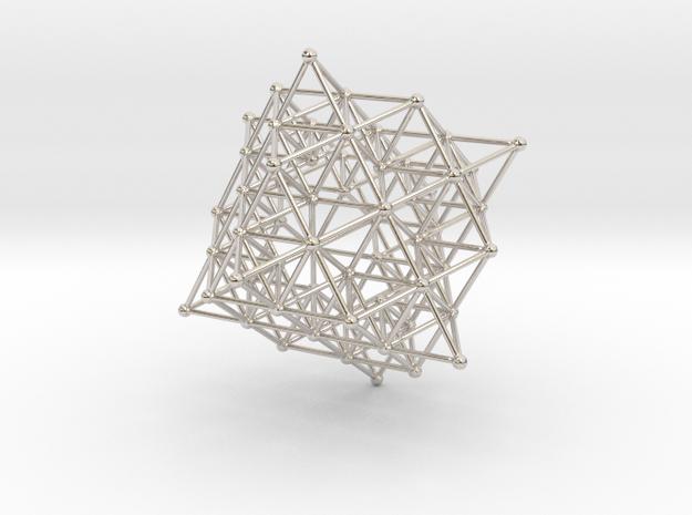 tetrahedron atom array in Rhodium Plated Brass