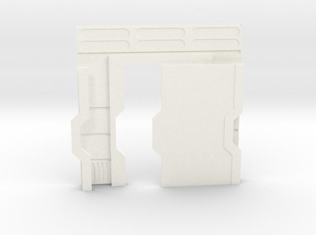 Starship Interior Left Door (wargaming) in White Processed Versatile Plastic