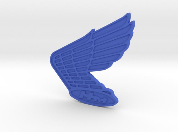Vintage Honda Logo (double sided) in Blue Processed Versatile Plastic