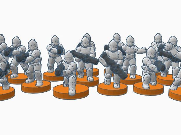 1st Army GMO Troopers in Smooth Fine Detail Plastic