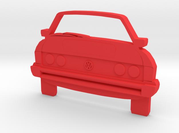 Scirocco Art: MK1 Toothpaste Tube Pusher in Red Processed Versatile Plastic