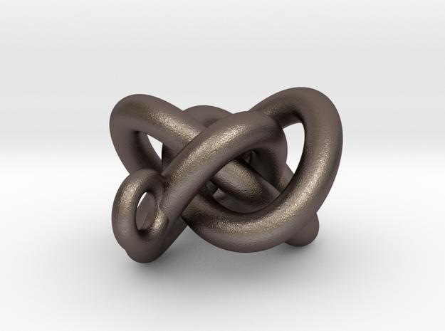 Quadrefoil Knot Pendant 3d printed