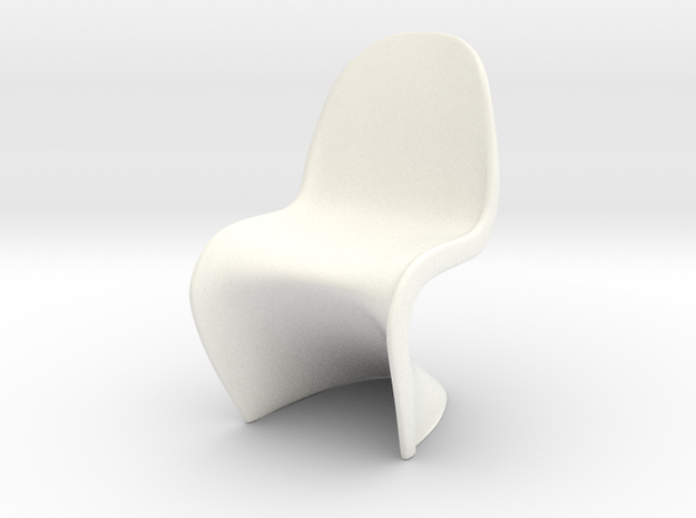"Panton Chair 1:10 (1/2"") Scale  in White Processed Versatile Plastic"