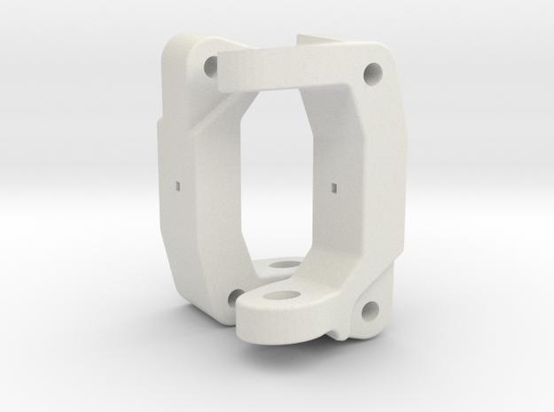Tamiya WR02/WT01/Comical 8 DEG Front C Hub Pair in White Natural Versatile Plastic