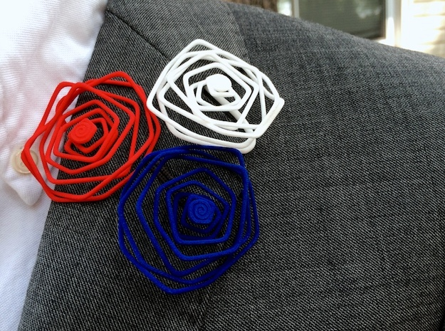 Wire Lapel Flower 3d printed