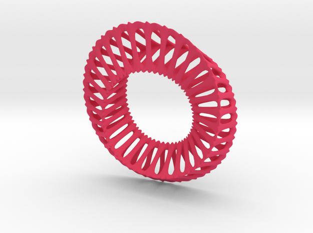 Tri Mobius Band Ribbed B 100mm 3d printed