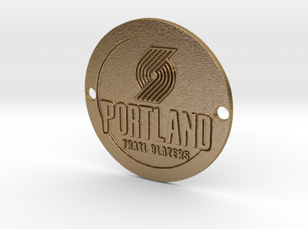 Portland Trail Blazers Custom Sideplate 1 in Polished Gold Steel
