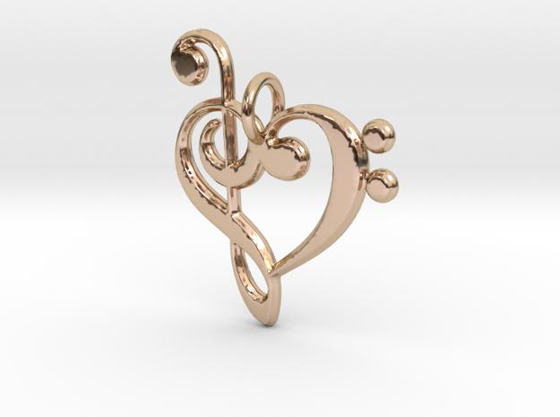 Love Music Pendant in 14k Rose Gold