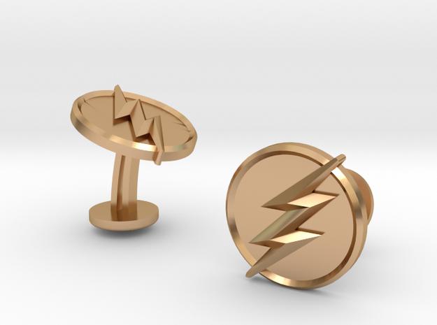 Flash Cufflinks in Polished Bronze