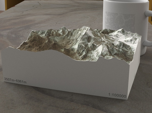 Aconcagua, Argentina, 1:100000 Explorer in Full Color Sandstone