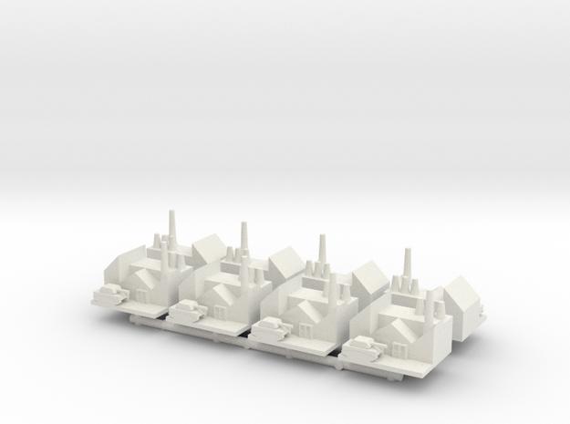 1/285 Armor Research Centers x8 in White Natural Versatile Plastic