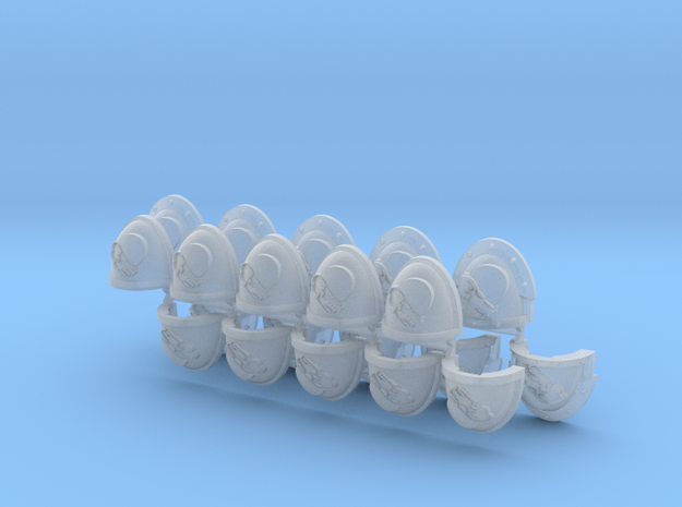 Commission 67 shoulder pads part K in Smooth Fine Detail Plastic