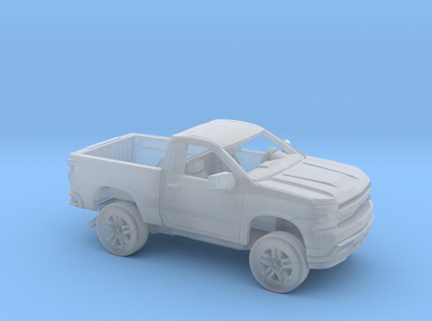 1/87 2019 Chevy Silverado Reg Cab Short Bed Kit in Smooth Fine Detail Plastic