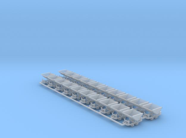 Feldbahn Kipploren 20er Set - TTf 1:120 in Smooth Fine Detail Plastic
