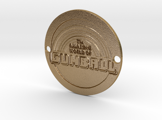 The Amazing World of Gumball Custom Sideplate 1 in Polished Gold Steel