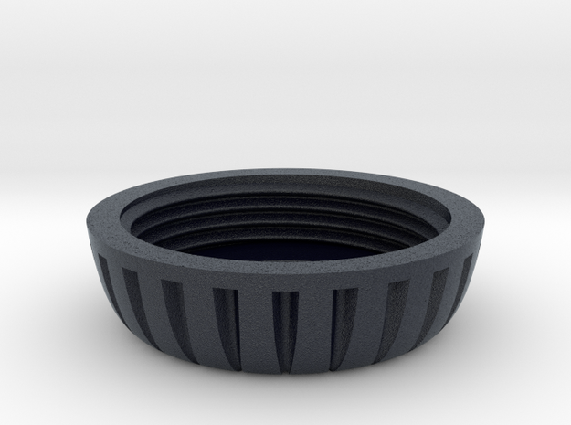 18mm Motor Retainer Cap Knurled in Black PA12