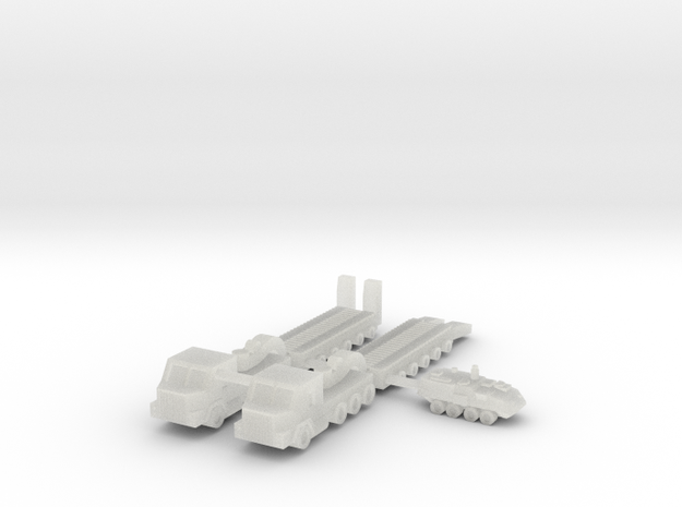 1/285 M1070 HETS Tank Transport (x2) in Smooth Fine Detail Plastic