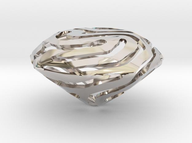 Nature made Diamond in Rhodium Plated Brass