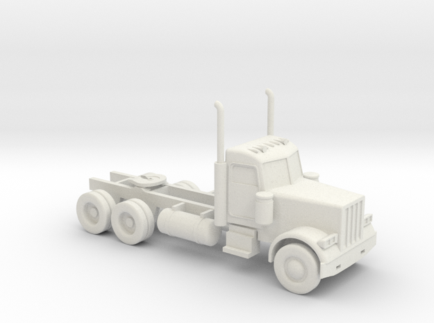 Peterbilt 379 Daycab - 1:50scale in White Strong & Flexible