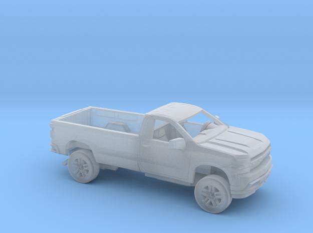 1/87 2019 Chevrolet Silverado Reg Cab Long Bed Kit in Smooth Fine Detail Plastic