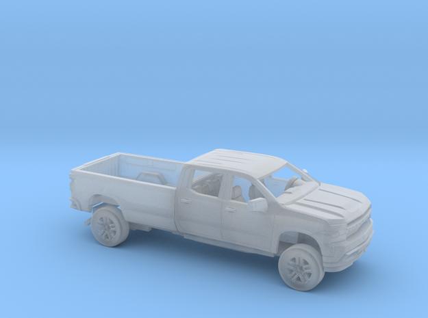 1/87 2019 Chevrolet Silverado Crew Cab LongBed Kit in Smooth Fine Detail Plastic