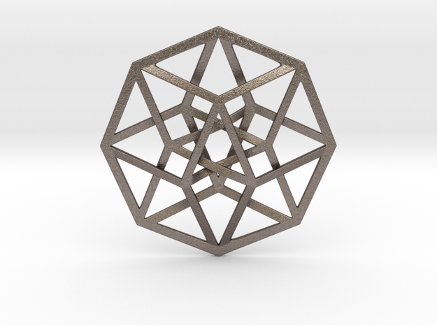 4D Hypercube (Tesseract) in Stainless Steel