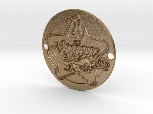 Powerpuff Girls 2016 Sideplate 1 in Polished Gold Steel