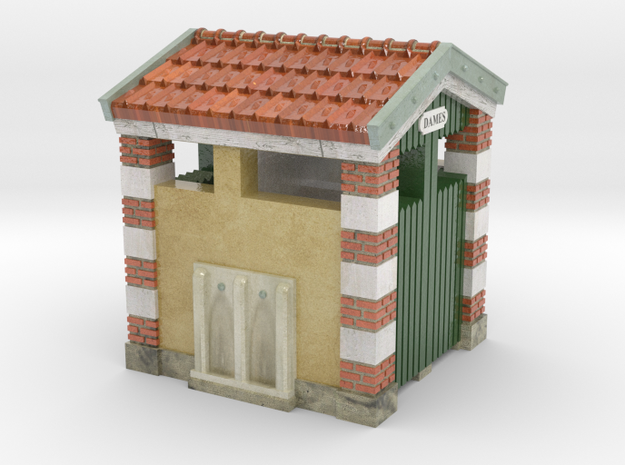 C-NgPLM2-03 - train station WC in Glossy Full Color Sandstone