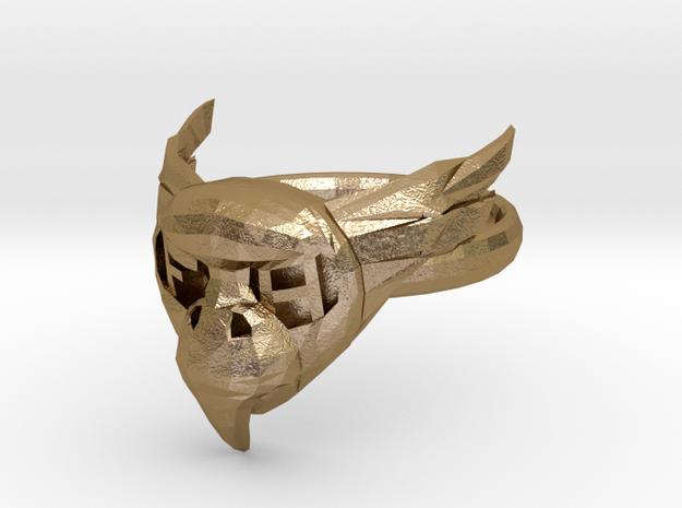 BirdRingBend 19mm in Polished Gold Steel