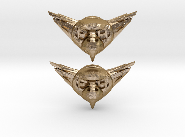 BirdButtonz in Polished Gold Steel
