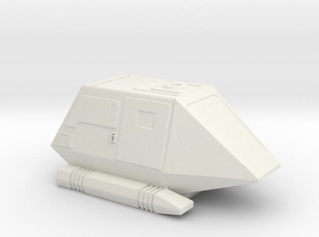 1:72 Type 15 Shuttle Pod in White Natural Versatile Plastic
