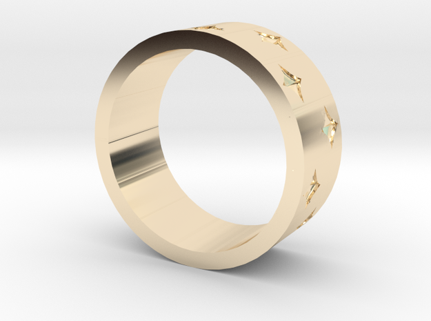 Spark Ring in 14k Gold Plated Brass: 4 / 46.5